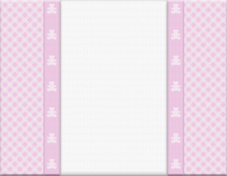 Pink checkered celebration frame for your message or invitation with copy-space in the middle Stock Photo - 15307224