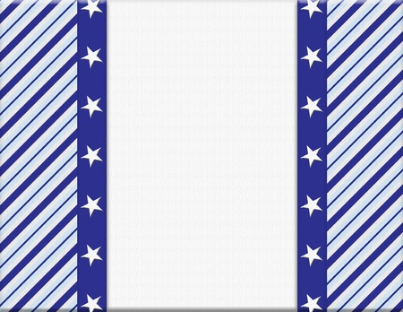 Blue and White celebration frame with stars for your message or invitation with copy-space in the middle Stock Photo - 15328420