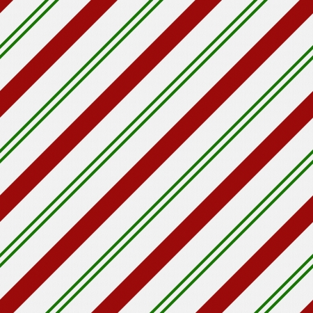 Red, Green and White Striped Fabric Background that is seamless and repeats