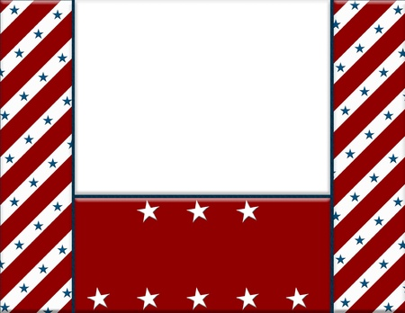 Red and White American celebration frame for your message or invitation with copy-space in the middle photo