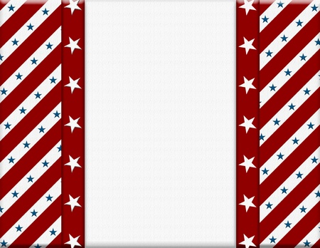 Red and White American celebration frame for your message or invitation with copy-space in the middle Stock Photo - 15410786