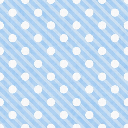 Blue and White Polka Dot Fabric Background  that is seamless and repeats photo