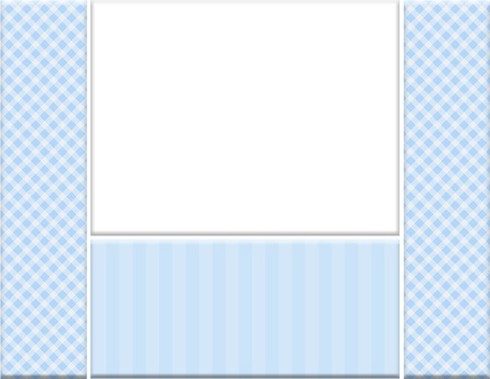 Blue checkered celebration frame for your message or invitation with copy-space in the middle Stock Photo - 15431225