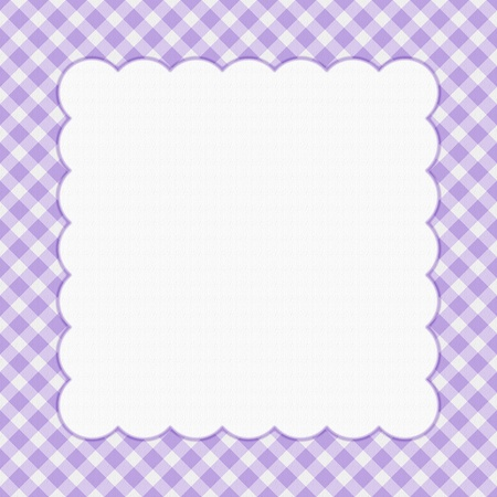 Purple checkered celebration frame for your message or invitation with copy-space in the middle Stock Photo - 15431227