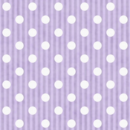 Purple and White Polka Dot Fabric Background  that is seamless and repeats Stock Photo - 15481446