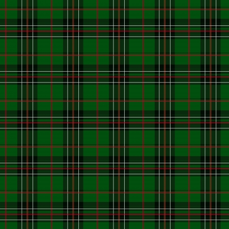 Green, Red, White and Black Plaid Fabric Background that is seamless and repeats photo