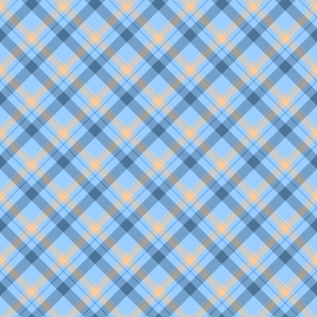Blue and Beige Plaid Fabric Background that is seamless and repeats Zdjęcie Seryjne - 15548336