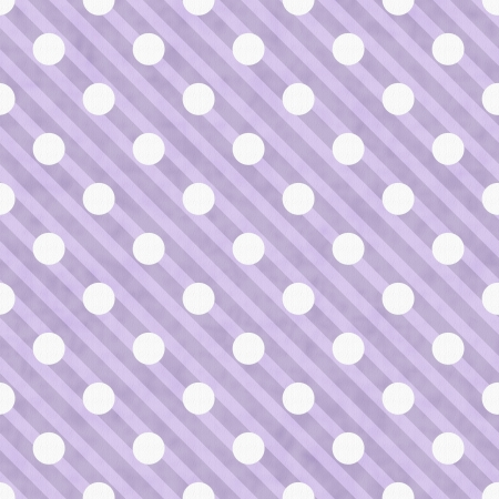 retro circles: Purple and White Polka Dot Fabric Background  that is seamless and repeats