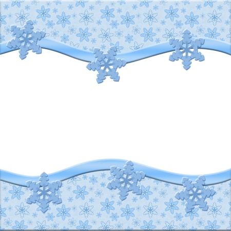 Snowflakes background for your message or invitation with copy-space Stock Photo - 16164350