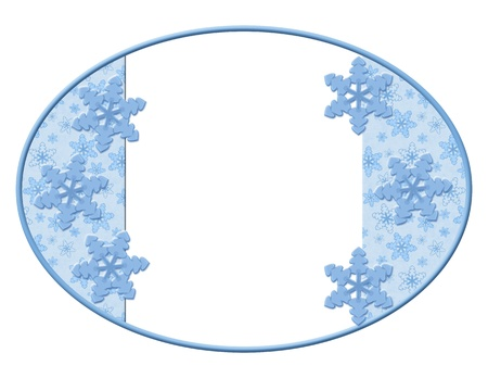 Oval Snowflakes background for your message or invitation with copy-space photo