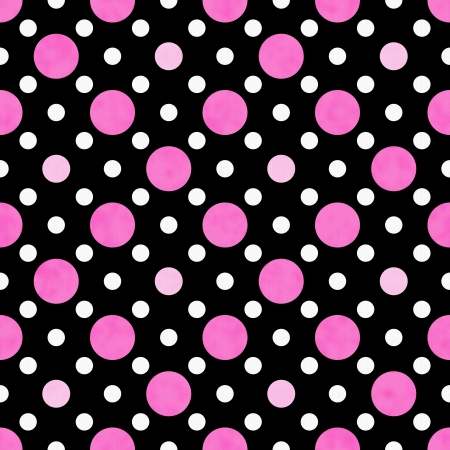 polka dot background: Pink, White and Black Polka Dot Fabric with texture Background that is seamless and repeats