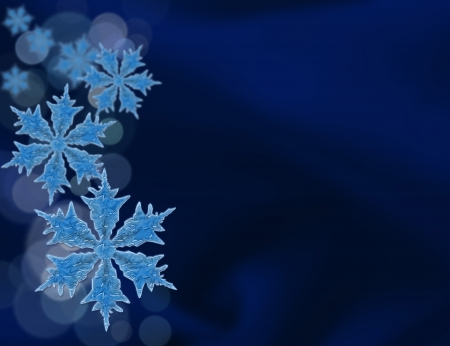 Snowflakes background for your message or invitation with copy-space Stock Photo - 16573349
