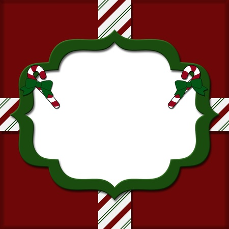 overwhite: Christmas Candy Cane Striped background for your message or invitation with copy-space