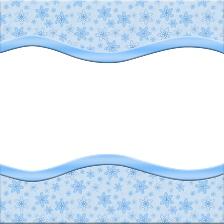 Snowflakes background for your message or invitation with copy-space photo