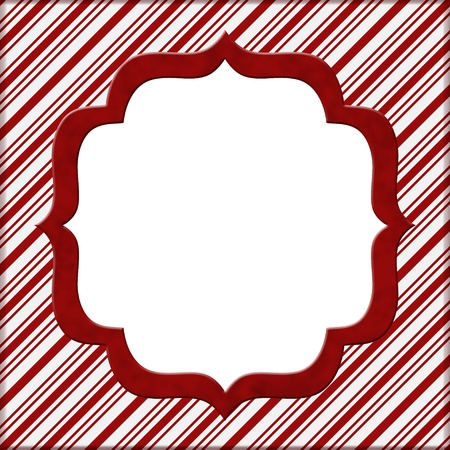 Kerst Candy Cane Gestreepte achtergrond voor uw bericht of uitnodiging met exemplaar-ruimte in het midden Stockfoto