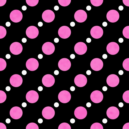 Pink, White and Black Polka Dot Fabric with texture Background that is seamless and repeats