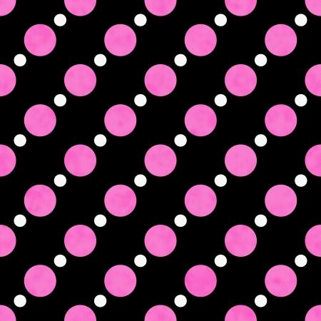 Roze, Wit en Zwart Stip Stof met textuur Achtergrond die is naadloos en herhaalt Stockfoto
