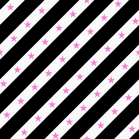 diagonal: Black, Pink and White Striped Fabric with texture Background that is seamless and repeats
