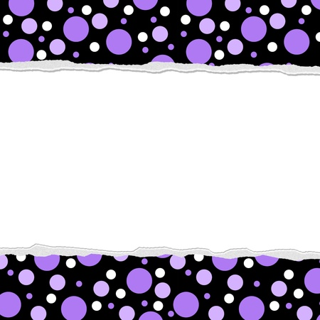 Purple Polka Dot background for your message or invitation with copy-space in middle