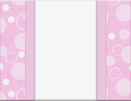 white polka dots: Pink Polka Dot background for your message or invitation with copy-space in middle
