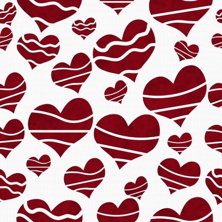 Retro Red Heart-shaped on Textured Fabric Background that is seamless and repeats Stock fotó