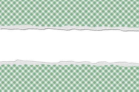 Green Gingham Torn  Background for your message or invitation with copy-space in the middle Stock Photo - 17412456