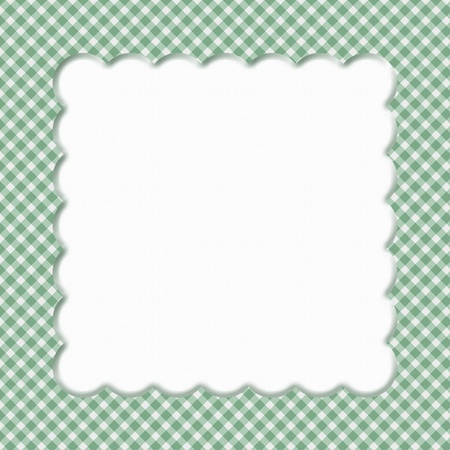 Green Gingham  Background for your message or invitation with copy-space in the middle Stock Photo - 17565686