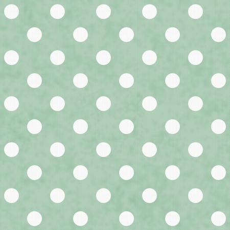 white polka dots: Green and White Polka Dot Fabric Background  that is seamless and repeats