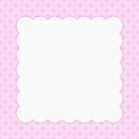 Pink checkered celebration frame for your message or invitation with copy-space in the middle photo