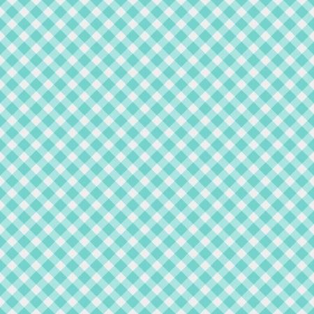 원활 빛 아쿠아 블루 깅엄 직물 배경 스톡 콘텐츠