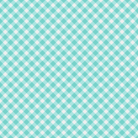 gingham: A light aqua blue gingham fabric  background that is seamless
