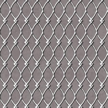 chainlinked: Ketting Gelinkte Fence Achtergrond die is naadloos en herhaalt Stockfoto