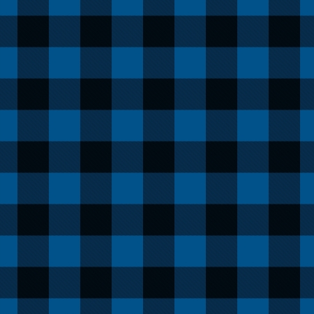 Blue and Black Plaid Fabric Background that is seamless and repeats photo