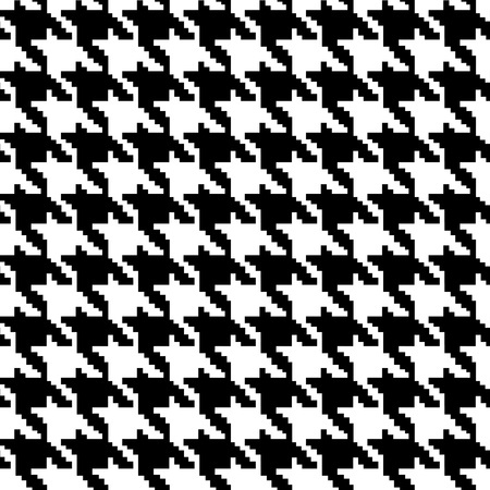 white fabric texture: Black and White Hounds Tooth textured Fabric Background that is seamless and repeats Stock Photo