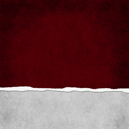 gray: Square Red Grunge Torn Textured Background with copy space at top and bottom