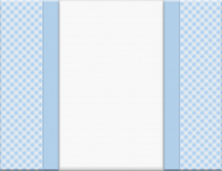gingham: Blue checkered celebration frame for your message or invitation with copy-space in the middle Stock Photo