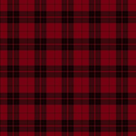 빨간색과 검은 색 격자 무늬 직물 배경이 매끄럽고 반복됩니다.