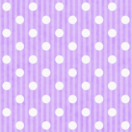 Purple and White Polka Dot and Stripes Fabric Background that is seamless and repeats