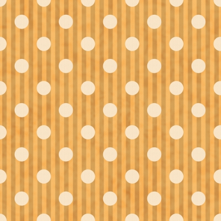 Gold and White Polka Dot and Stripes Fabric Background that is seamless and repeats photo
