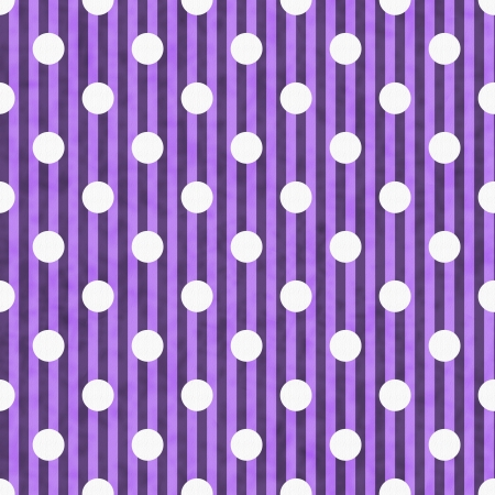 Purple and White Polka Dot and Stripes Fabric Background that is seamless and repeats photo