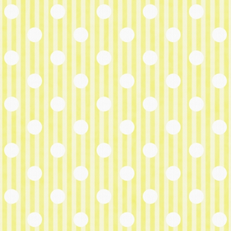 Yellow and White Polka Dot and Stripes Fabric Background that is seamless and repeats photo