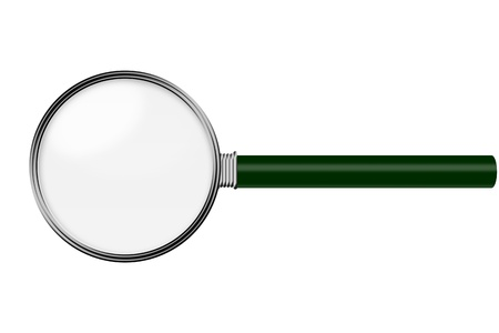 magnification: Magnifying Glass isolated on white