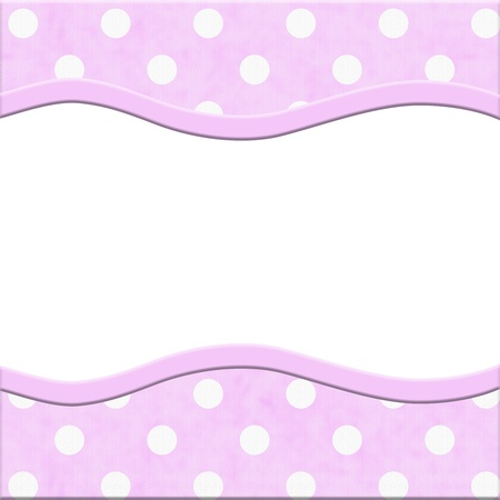 Pink Polka Dot and Striped Frame for your message or invitation with copy-space in the middle Stock Photo - 20476888