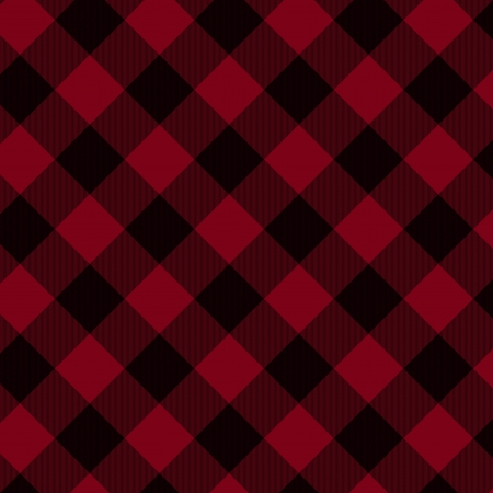 diagonal stripes: Red and Black Plaid Fabric Background that is seamless and repeats
