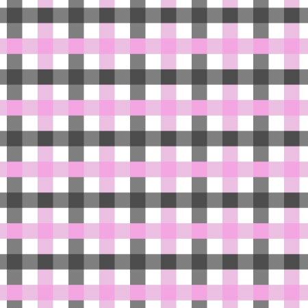 Pink, White and Black Plaid textured Fabric Background that is seamless and repeats