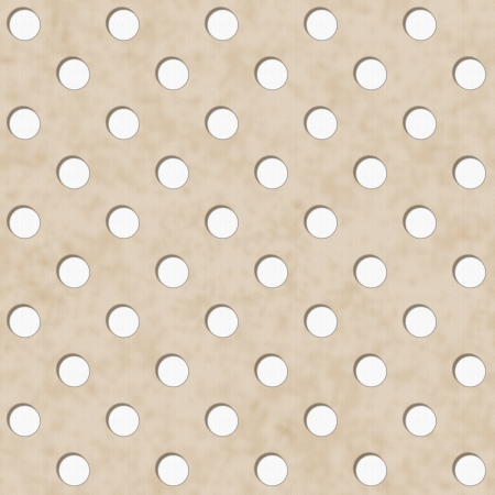 beige: Ecru and White Polka Dot Fabric with texture Background that is seamless and repeats Stock Photo