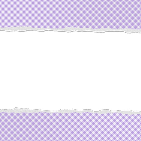 Purple Gingham Torn  Background for your message or invitation with copy-space in the middle photo