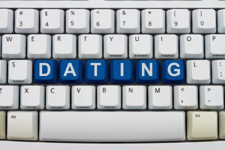 finding love: Computer keyboard keys with word Dating, Finding love online