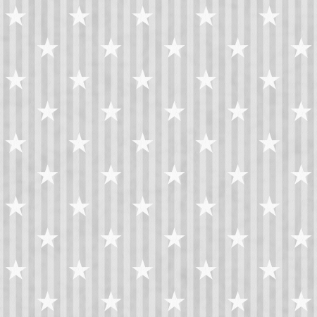 on gray: Gray and White Stars and Stripes Fabric Background that is seamless and repeats