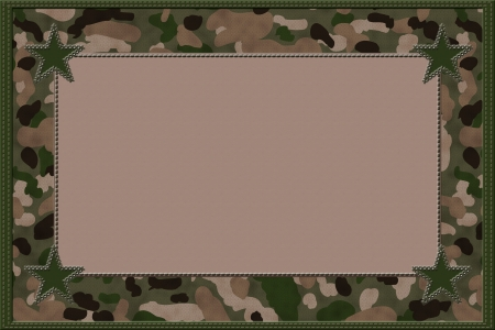 Camouflage Background with Stars and Center for copy-space, Honoring People who Serve Background